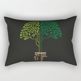 Technology Tree Rectangular Pillow