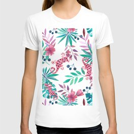 Watercolor Jungle with Geckos T-shirt