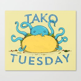 Tako Tuesdays Canvas Print
