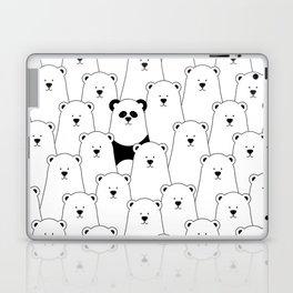 Polar bear and panda cartoon Laptop & iPad Skin