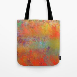 Fiery Orange Decorative Abstract Tote Bag