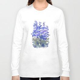 Beautiful Blue Delphiniums Long Sleeve T-shirt