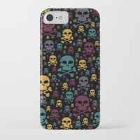 skulls iPhone & iPod Cases featuring Skulls by Alice Gosling