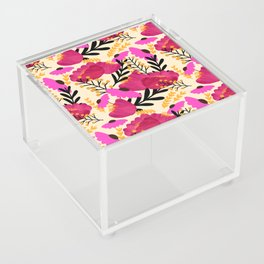 Vibrant Floral Wallpaper Acrylic Box