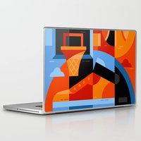basketball Laptop & iPad Skins featuring Basketball by koivo