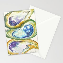 3 Oysters Stationery Cards