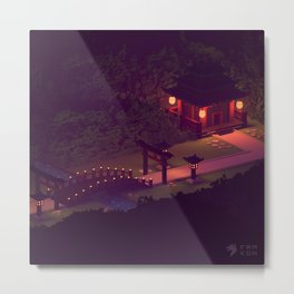 Mysterious Japanese Temple Metal Print