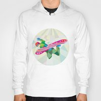 snowboard Hoodies featuring Snowboarder Snowboard Jumping Low Polygon by patrimonio