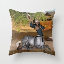 Awessome centaur women Throw Pillow