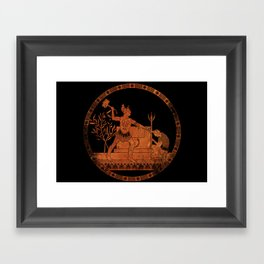 Greek Style Thor Framed Art Print