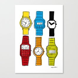 Watch Collection Canvas Print