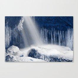 Stream of Blue Frozen Hope Canvas Print
