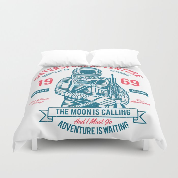 Outer space Adventure - Born to be an astronaut Duvet Cover