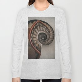 Spiral staircase in pastel brown tones Long Sleeve T-shirt