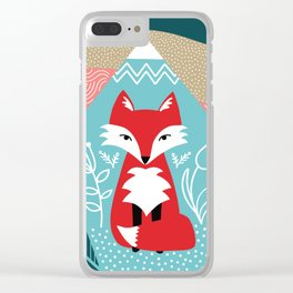 Winter Fox Clear iPhone Case