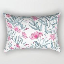 Nerium Oleander Pattern Rectangular Pillow