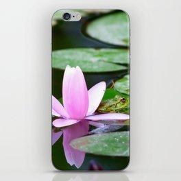 Lotus and frog iPhone Skin