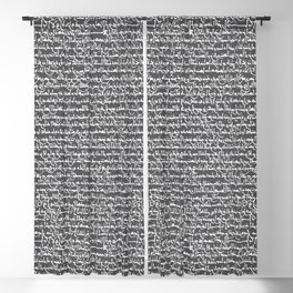Ancient Arabic // Charcoal Grey Blackout Curtain