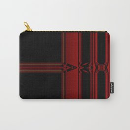 Vibrant Red Pattern Design Carry-All Pouch