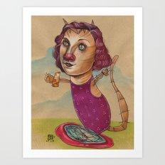 KITTY'S WATER WINGS Art Print