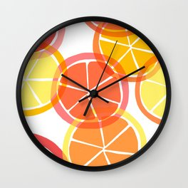 Sumemr Citruses Wall Clock