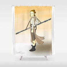 Rey x Miyazaki Shower Curtain