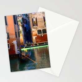 Gondoliers On A Venetian Canal Stationery Cards
