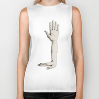 hands Biker Tanks featuring Hands by Bwiselizzy
