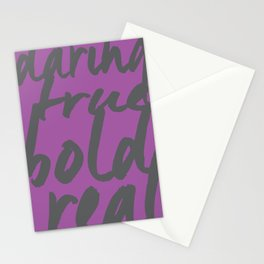 You! in Purple  Stationery Cards