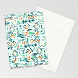 hand drawn primitive pattern Stationery Cards
