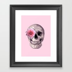 FLOWER SKULL Framed Art Print
