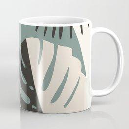 Minimal Yin Yang Monstera Fan Palm Finesse #1 #tropical #decor #art #society6 Coffee Mug