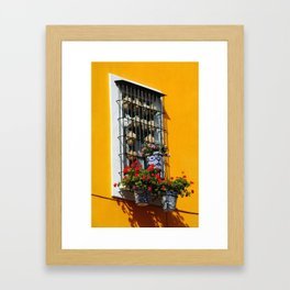 Balconies of Puebla  Framed Art Print