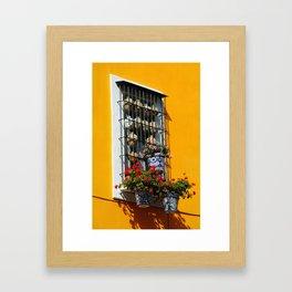 Balconies of Puebla  Framed Art Print