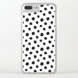 Minimal - black polka dots on white - Mix & Match with Simplicty of life Clear iPhone Case