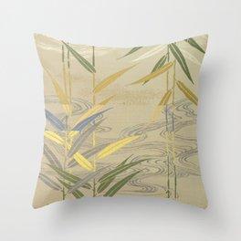 Bamboo Japanese Silk Throw Pillow