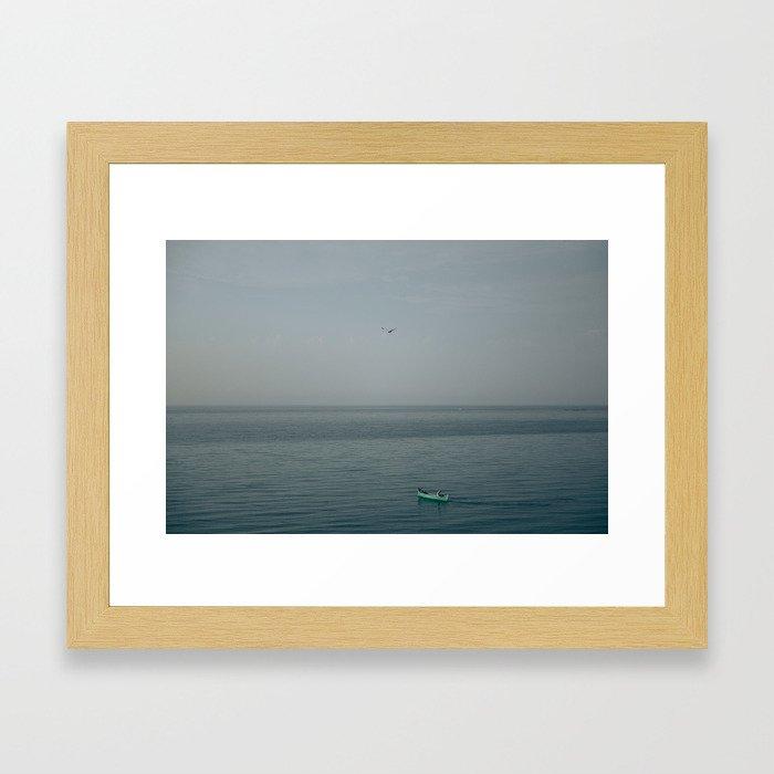 The fisherman's boat Framed Art Print