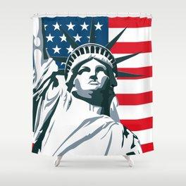 Pop Art Statue Of Liberty Shower Curtain