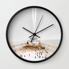 The Oculus at the World Trade Center | Calatrava #architecture #society6 Wall Clock