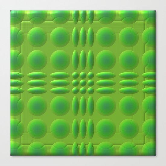 Puffy Green Canvas Print
