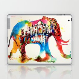Colorful India Elephant Vintage Travel Love Watercolor Laptop & iPad Skin