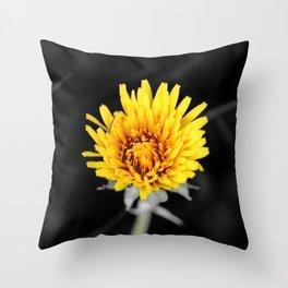 Yellow Flower Throw Pillow