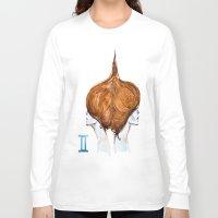 gemini Long Sleeve T-shirts featuring Gemini by Aloke Design
