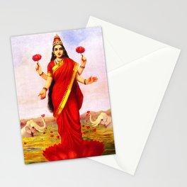 Lakshmi Kamala Devi Lotus Hindu Deity Stationery Cards