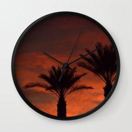 Palm Sunset - II Wall Clock