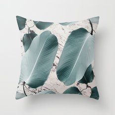 House Plants on Marble Throw Pillow