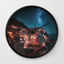 manarola by night Wall Clock