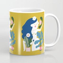 Blue Plant Lady Coffee Mug
