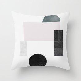Black ball Throw Pillow