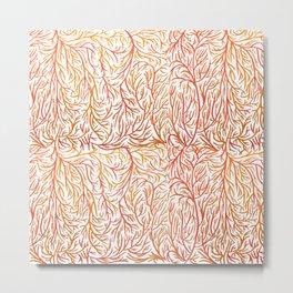 Autumn color lines Metal Print